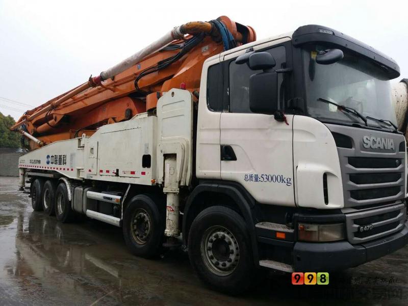 品牌 中联重科 臂架长度 56米以上 汽车底盘 斯堪尼亚 泵送方量 还款