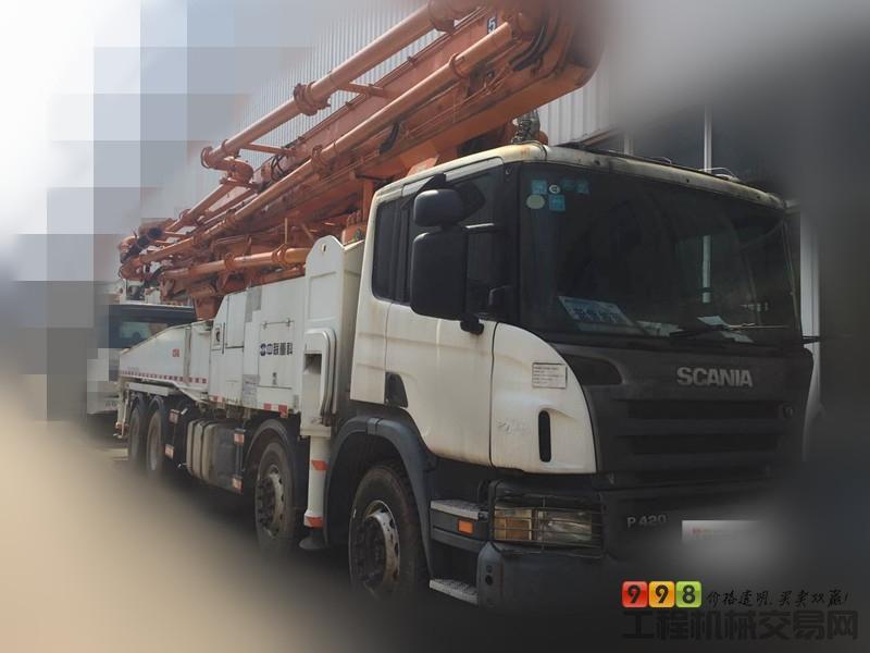 s  基本信息 品牌 中联重科 臂架长度 52米 汽车底盘 斯堪尼亚 泵送方