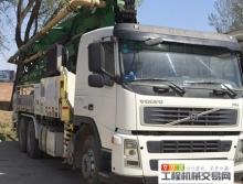出售10年中集沃尔沃38米叉腿泵车