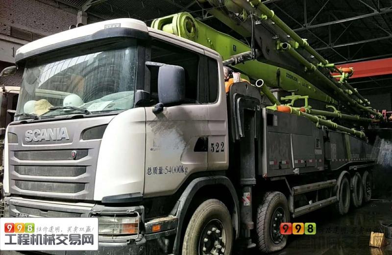 出售17年中联斯堪尼亚64米泵车【国四】
