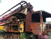 出售11年三一奔驰46米泵车(火烧车)