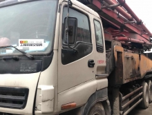 急售09年出廠三一五十鈴46米泵車(三橋叉腿大排量)