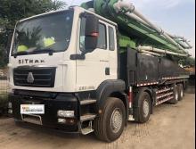 出售20年6月华一汕德卡56米泵车(国五准新车)