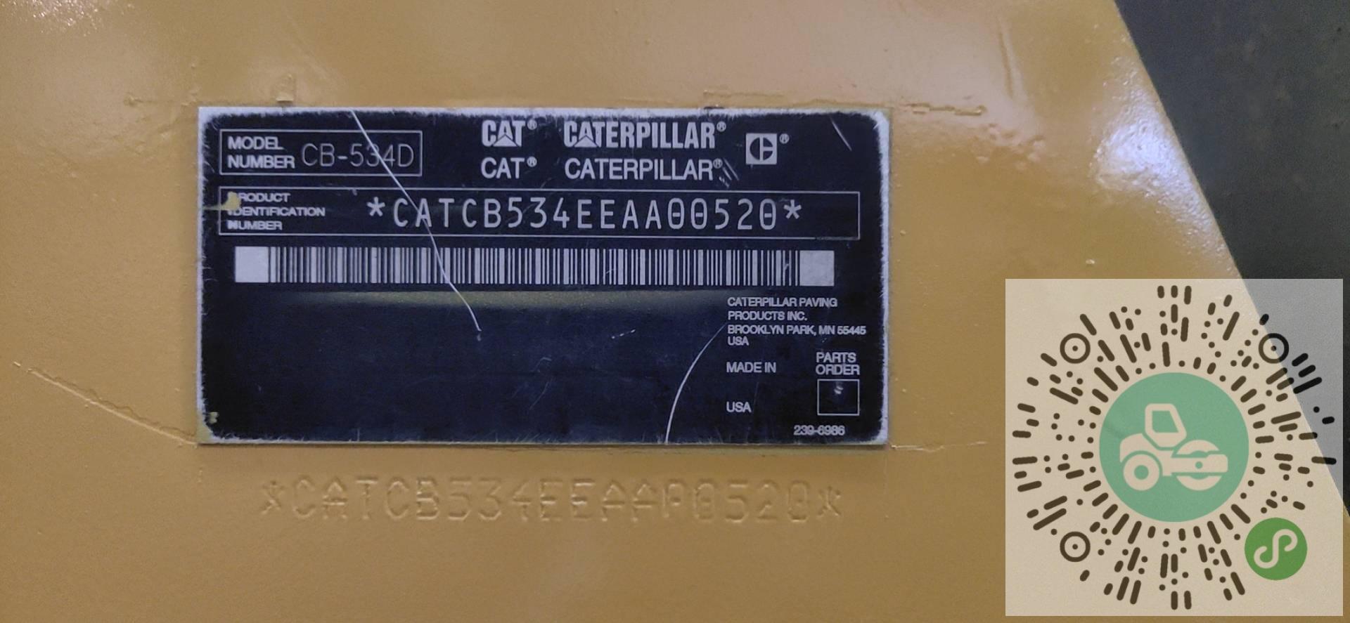 转让卡特彼勒2011年CB534D压路机