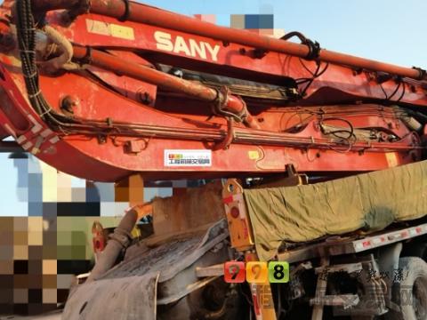 车主精品出售11年出厂三一五十铃46米泵车(3桥叉腿北方车)