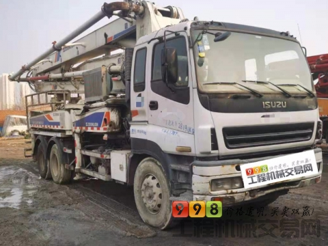 极品出售12年中联五十铃37米泵车