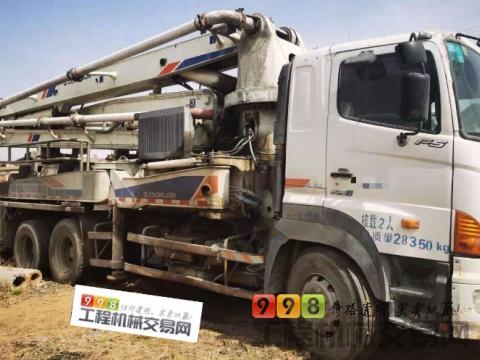 精品出售09年出厂中联日野37米泵车(国三绿标)