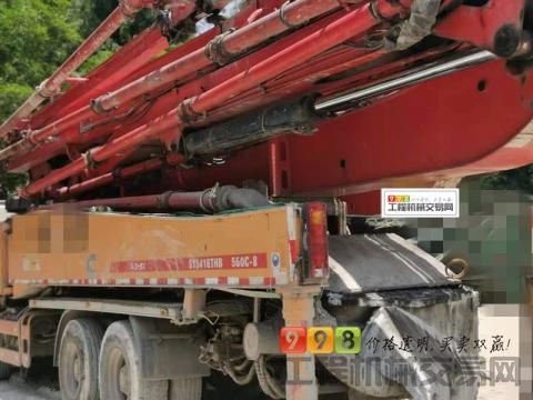 出售14年三一沃尔沃底盘56米泵车(车好价高)