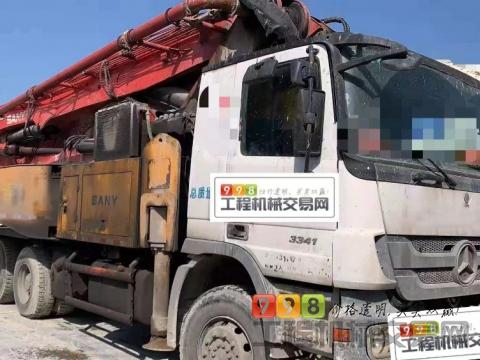 终端出售11年12月三一奔驰48米泵车(三桥   六节臂)