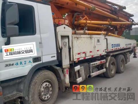 终端精品出售14年中联奔驰49米泵车(国四  六节臂 大排量 双主油泵)