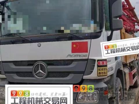 终端精品出售19年三一奔驰49米泵车(国五一手车)