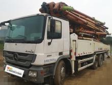 精品转让14年出厂中联奔驰49米泵车(三桥6臂 双油泵 开式系统)