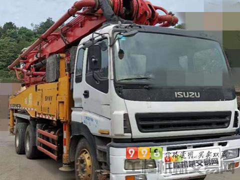精品底价转让12年出厂三一五十铃46米泵车(黑转塔 20万方)