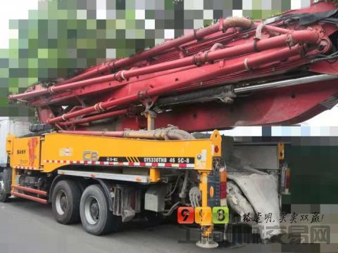 极品出售13年三一奔驰46米泵车