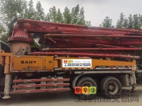 终端出售13年三一五十铃38米泵车