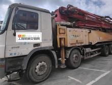 终端出售12年三一奔驰底盘52米泵车(6节臂)