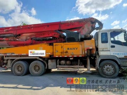 终端出售2013年三一五十铃底盘48米泵车